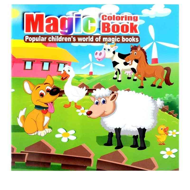 Cute Livestock Secret Garden Painting Drawing,'s Puzzle Magic Coloring Book
