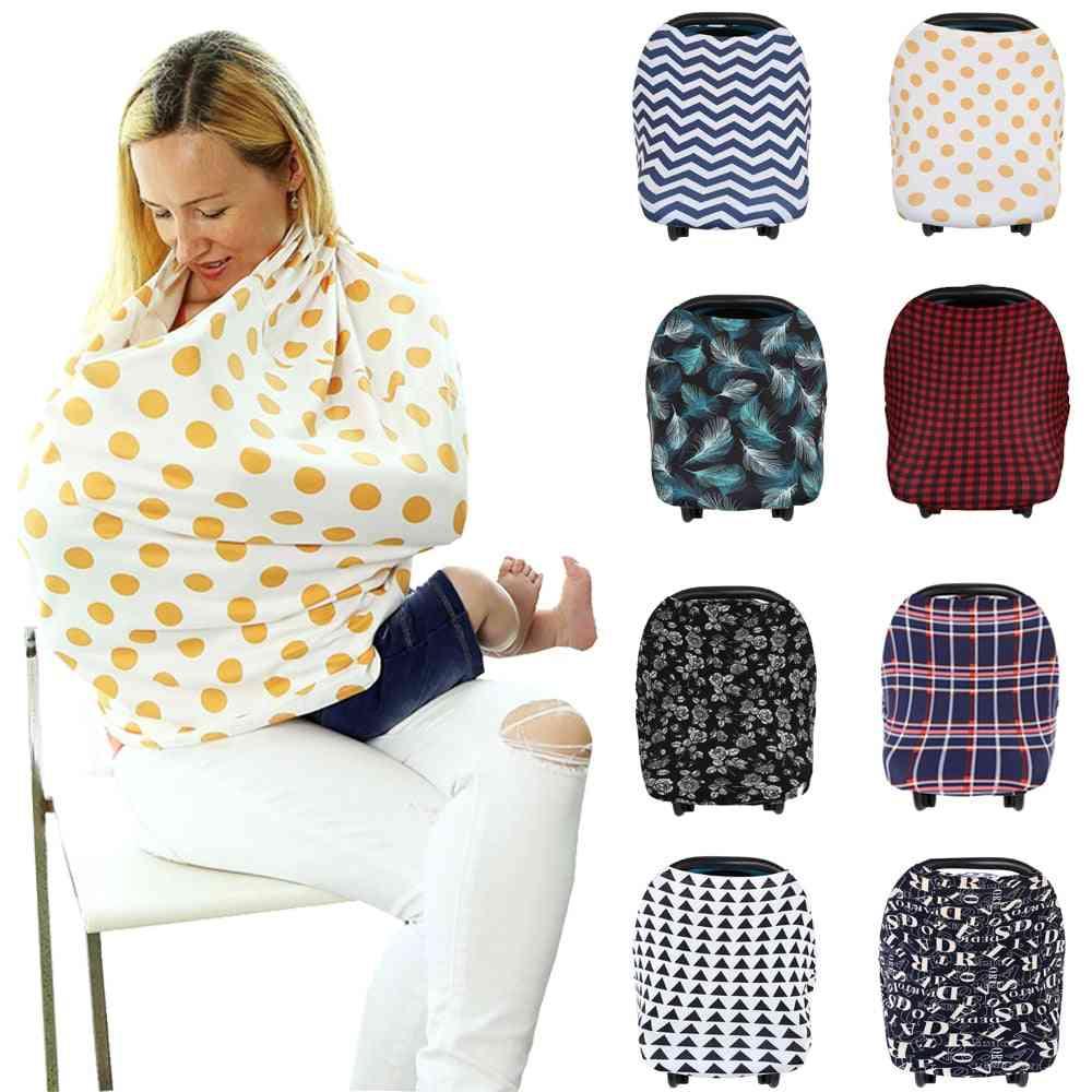 Nursing Breastfeeding Privacy Cover Baby Scarf Car Seat, Stroller Breast Feeding Covers