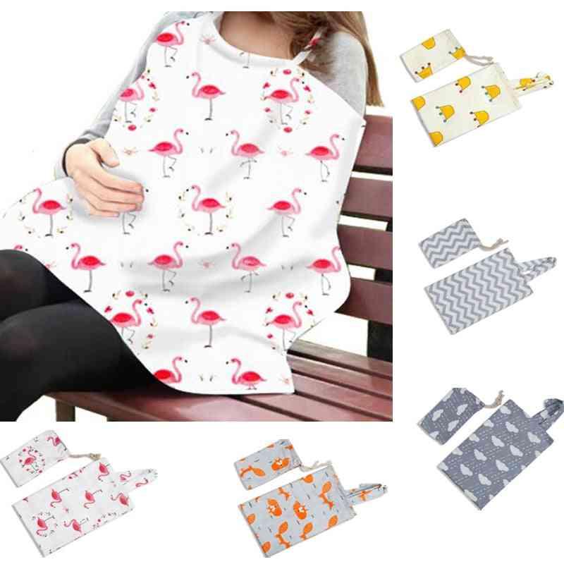 Cotton Breastfeeding Cover, Baby Nursing Apron Women Shawl Blanket Cloth