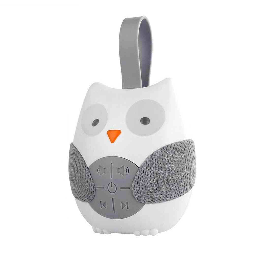 Portable Compact Baby Sleep Soother Owl Noise Shusher Sound Machine With Sleeps Aid Night Light