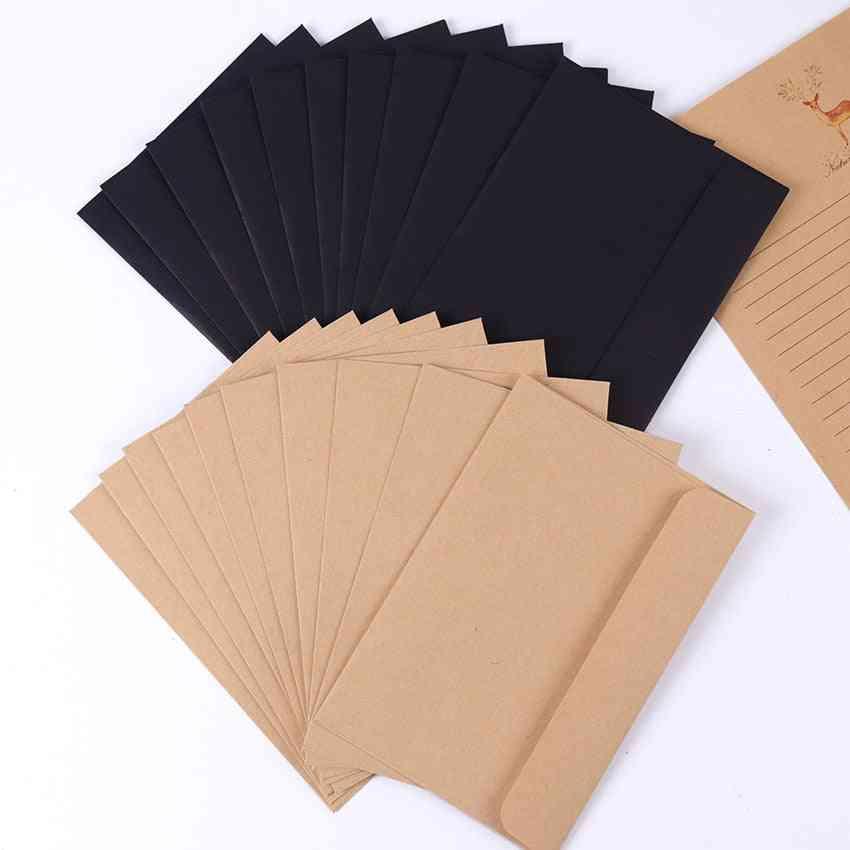 Kraft Paper Envelope, Message Card Letter, Stationary Storage