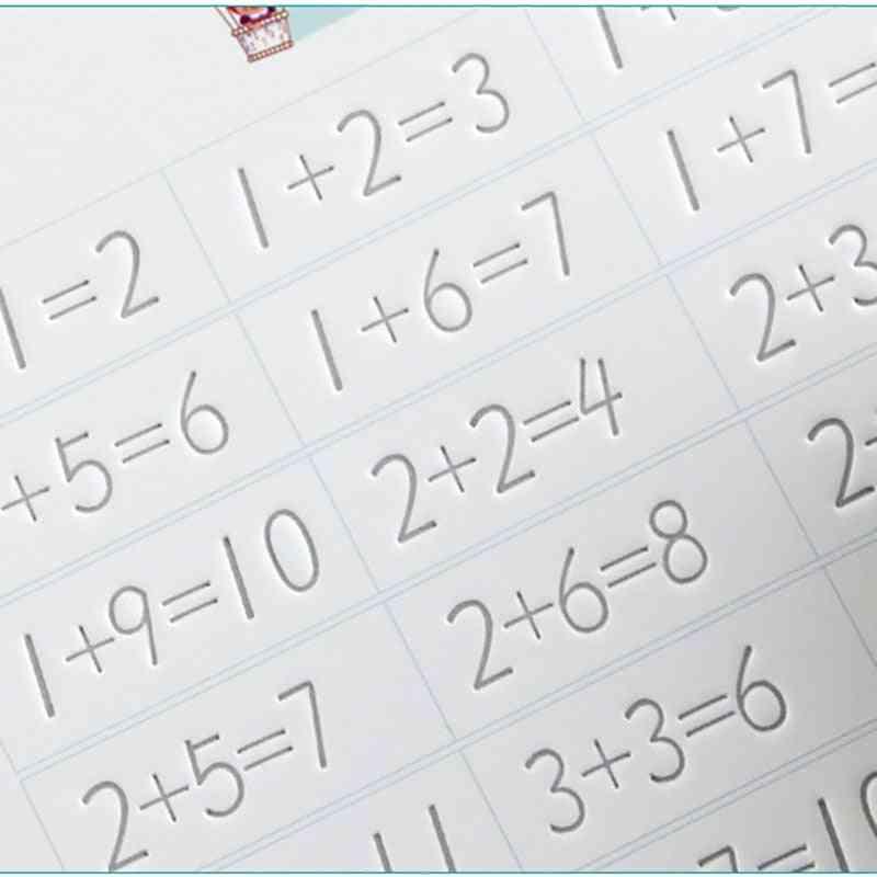 Three Dimensional Groove Font-arabic Numerals Copybook