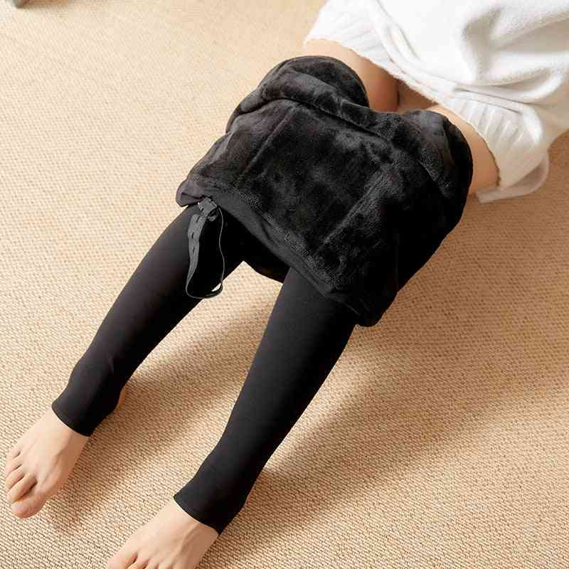 Winter Pregnant Women Leggings For Maternity Warm Soft Velvet Pants