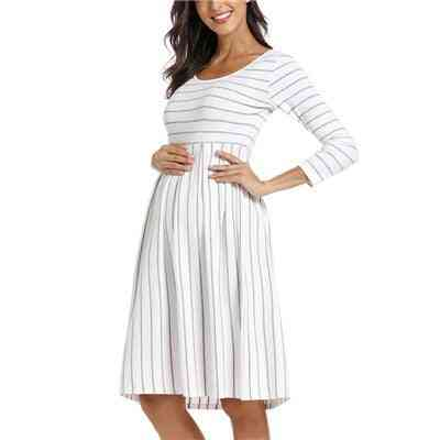 Casual Striped Maternity Short Sleeve Clothes