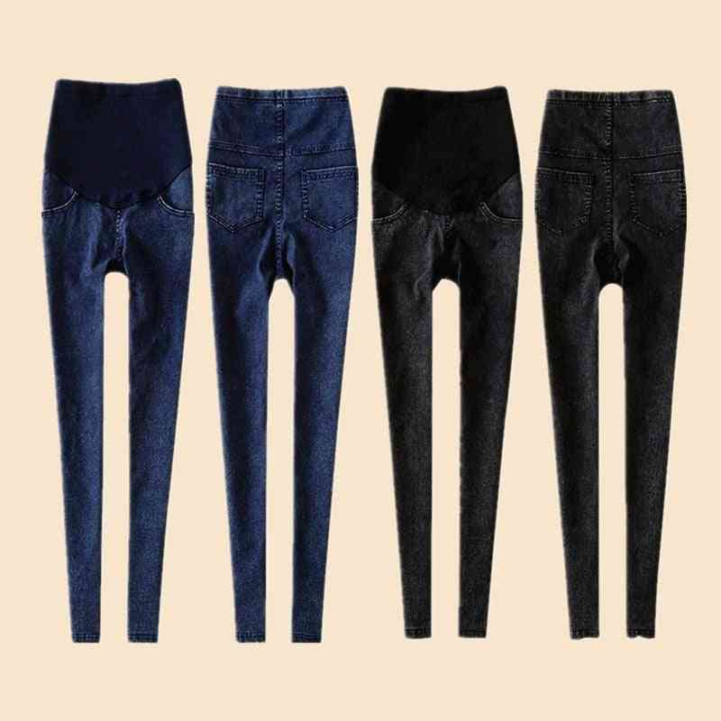 Leggings Maternity Jeans Clothes For Pregnant Women, Elastic Thin Pencil Feet Pregnancy Pants / Skinny Trousers