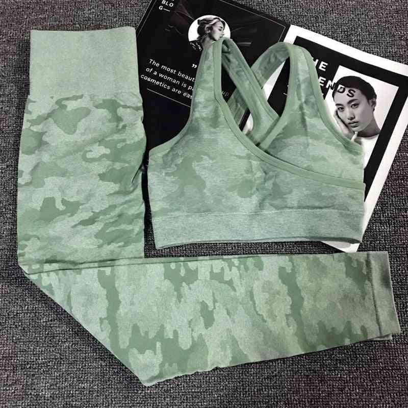 Leggings & Sport Bra Yoga Set Sports Wear, Gym Fitness Clothing