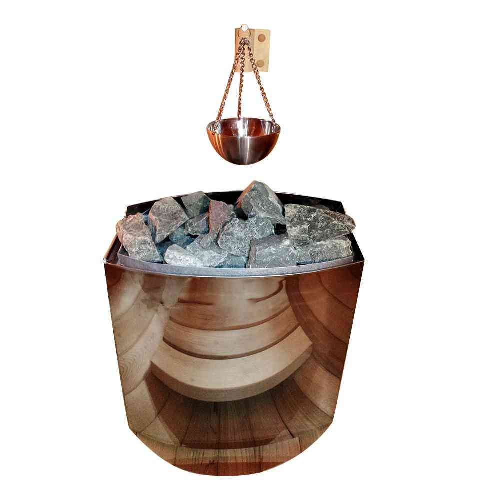 Sauna Aromatherapy Oil Bowl Cup Stainless Steel Essential Holder Wooden Material