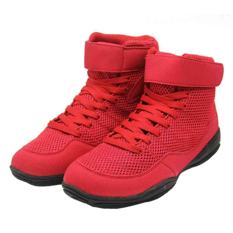 Professional Men Boxing Wrestling Shoes, Lace Up Training Fighting Boots