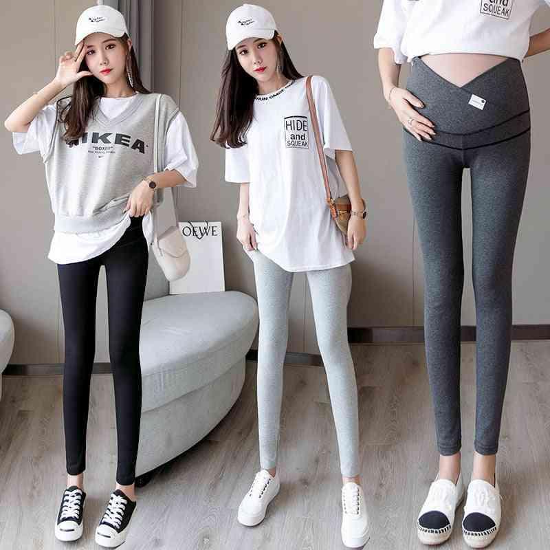 Skinny Maternity Across V Low Waist Belly Legging