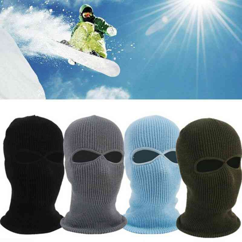 Full Face Cover Knit Hole Ski Mask Hat, Shield Beanie Cap Snow Winter Warm