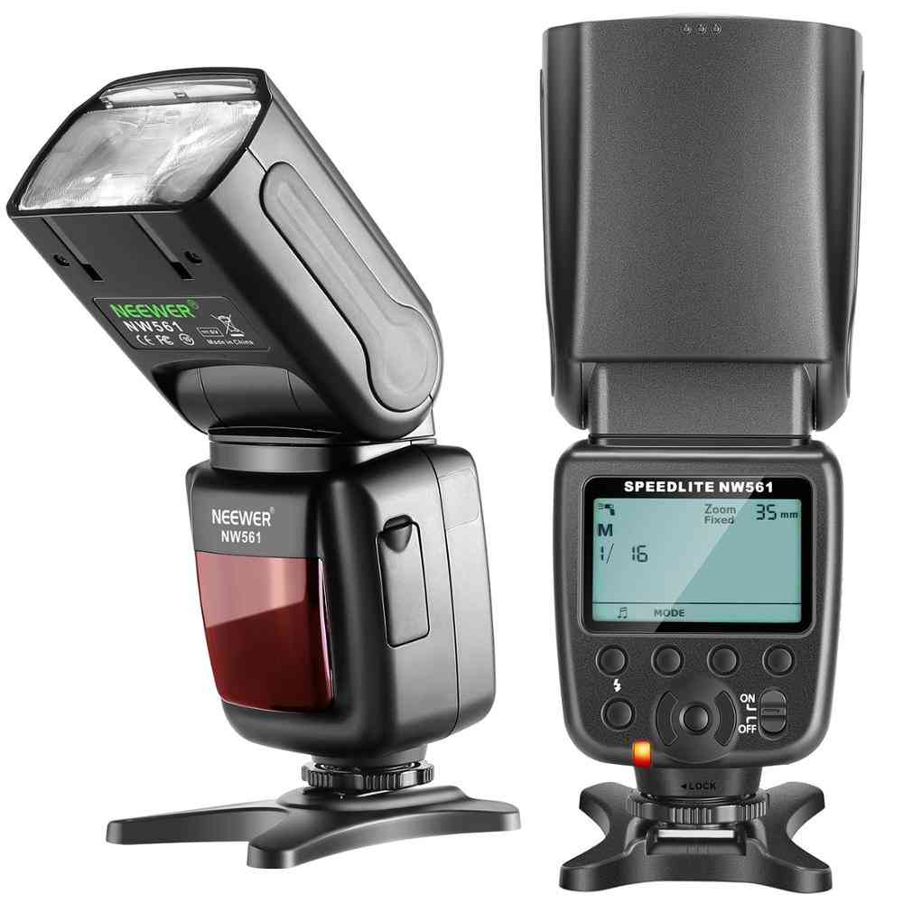 Lcd Display Flash Speedlite For Cmeras, With Stand