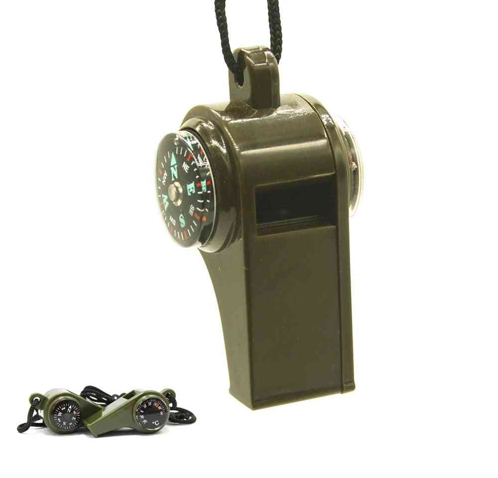Outdoor Camping, Hiking Emergency Whistle Compass