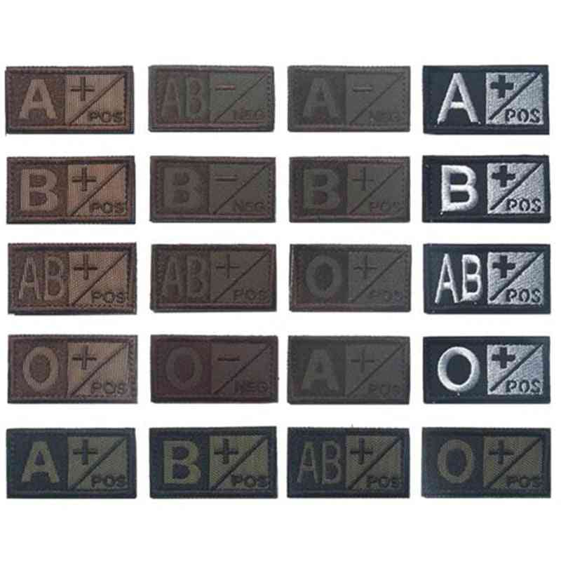 Sports Souvenirs Military Patch-blood Group Type, 3d Embroidery Patches