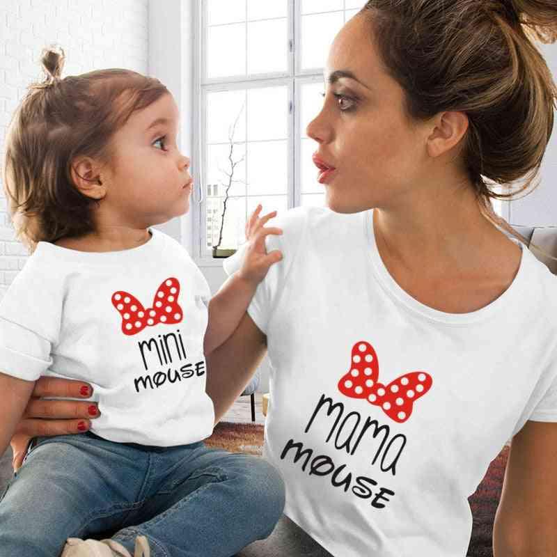 Mom Daughter Matching Cute Tshirts