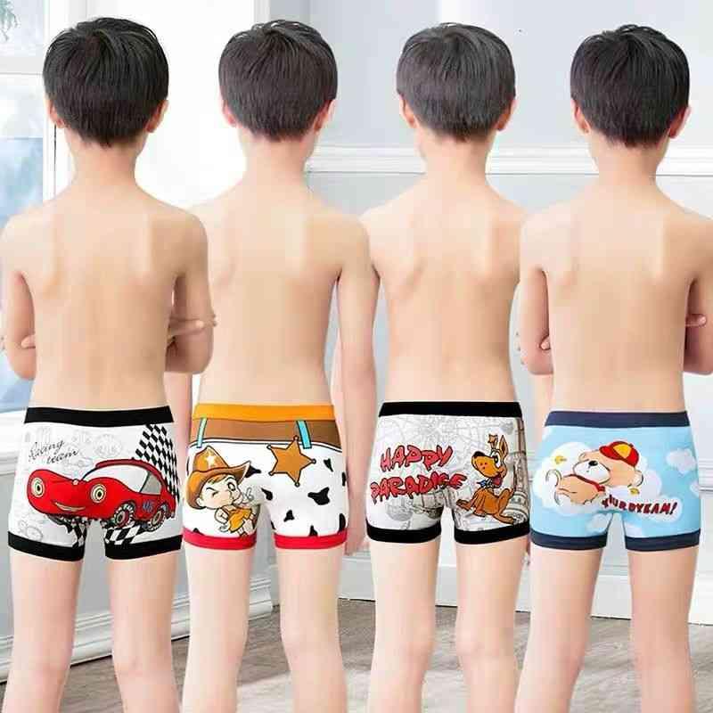 Boys Cute Cartoon Pure Cotton Soft Boxers Underpants