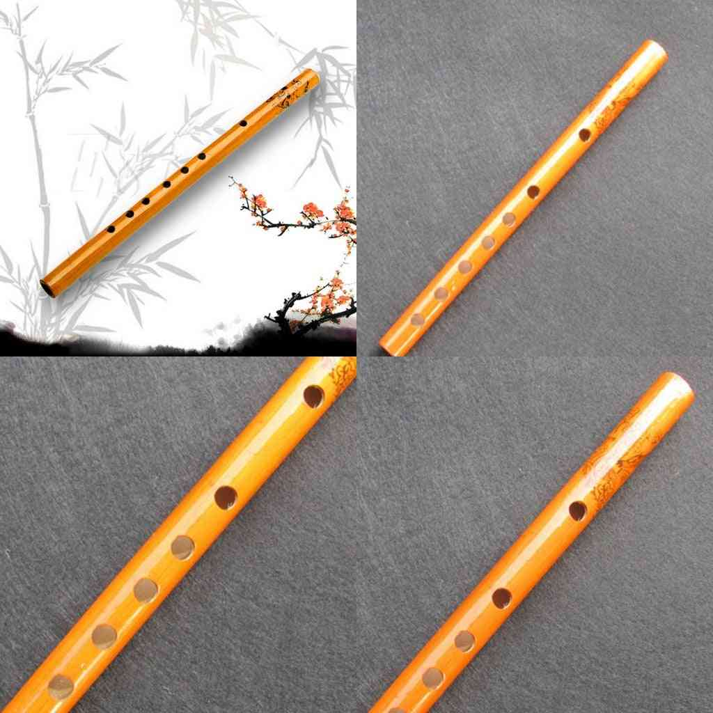 6 Hole Bamboo Flute Clarinet Student Musical Instrument