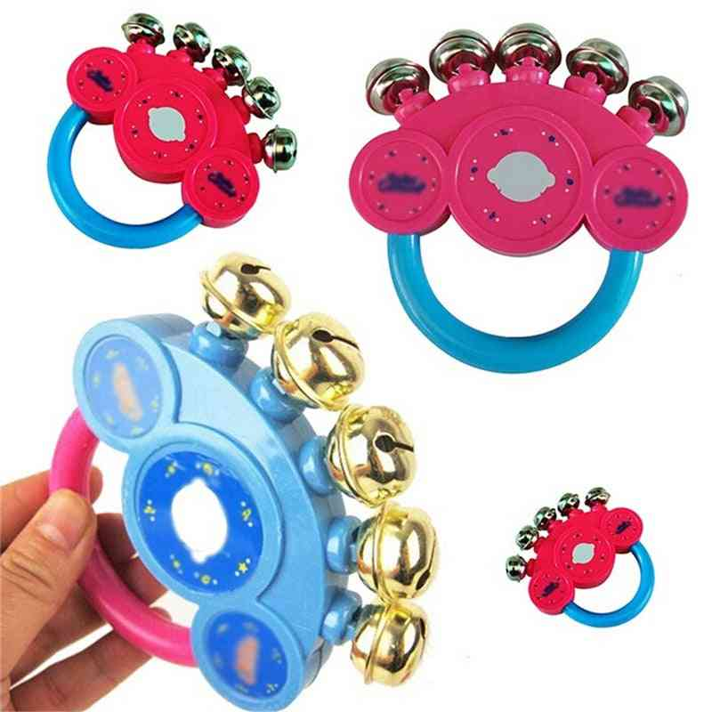 Baby Little Loud Bell Ball Rattles Toy, Baby Intelligence Grasping Handbell Rattle