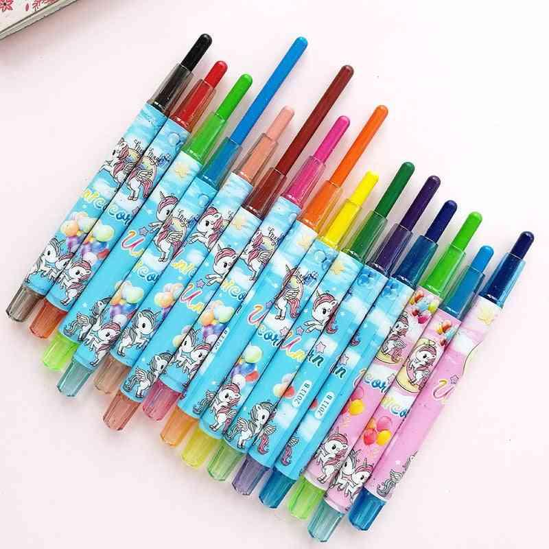 12pcs/set Unicorn Crayon Creative Graffiti Kawaii Oil Pastel Pens Drawing Art