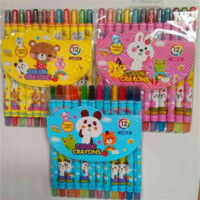 12 Pieces Of Painting Crayon Oil Pastel Drawing Pencil Set Stationery Art Supplies