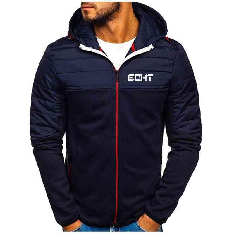 Men's Jacket Winter Warm Windproof Pocket Hoodie, Fashion Slim High-quality Hooded Streetwear