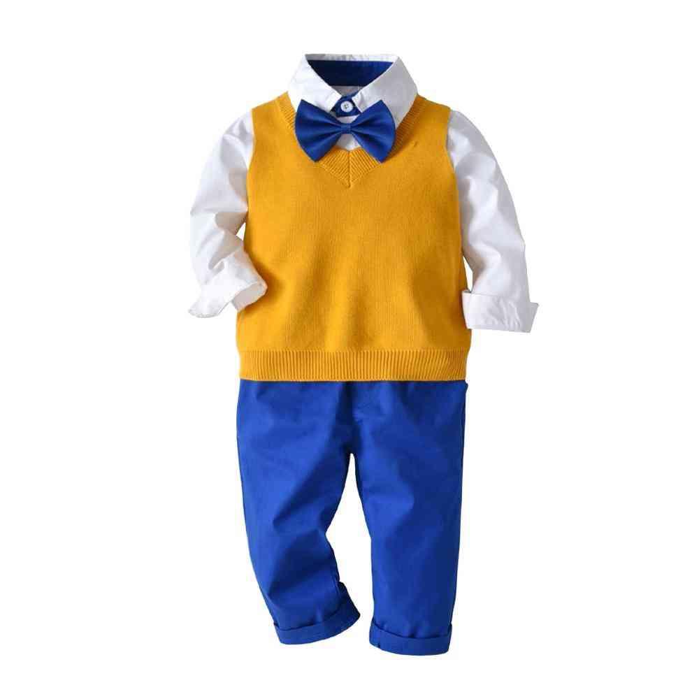 Children's Suits, Long Sleeve Shirt, Vest & Pants Set