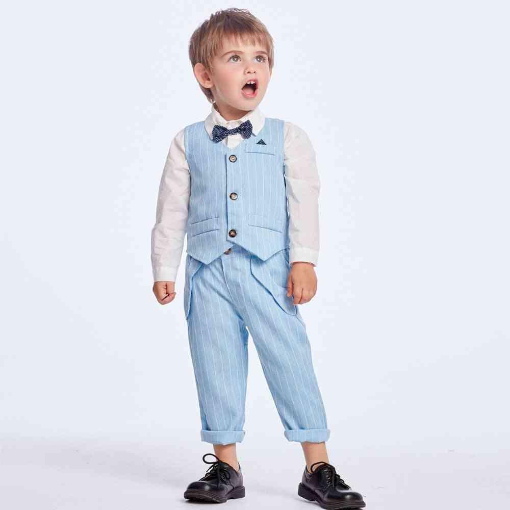 Blazers Clothes Boy Suits, Baby Vest, Shirt & Pants Set
