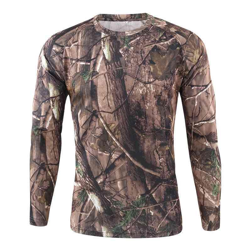 Spring Men Outdoor Sports Long Sleeve Tactical T-shirt