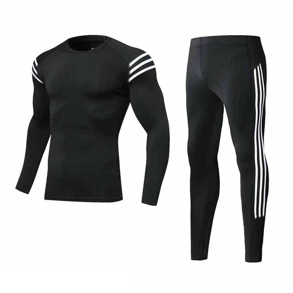 Boys Winter Thermal Underwear Sets, Anti-microbial Stretch Warm Clothing Long Pants