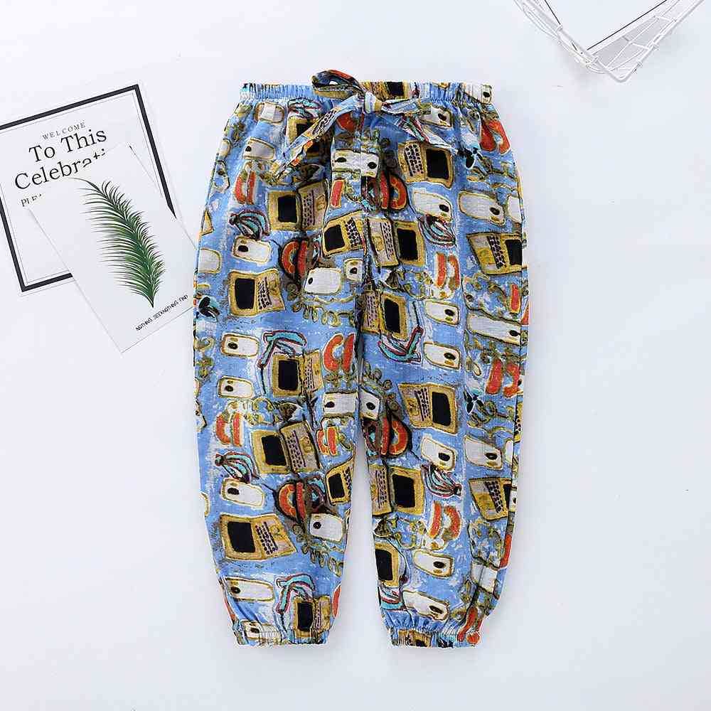 Loose And Breathable Cotton Pants