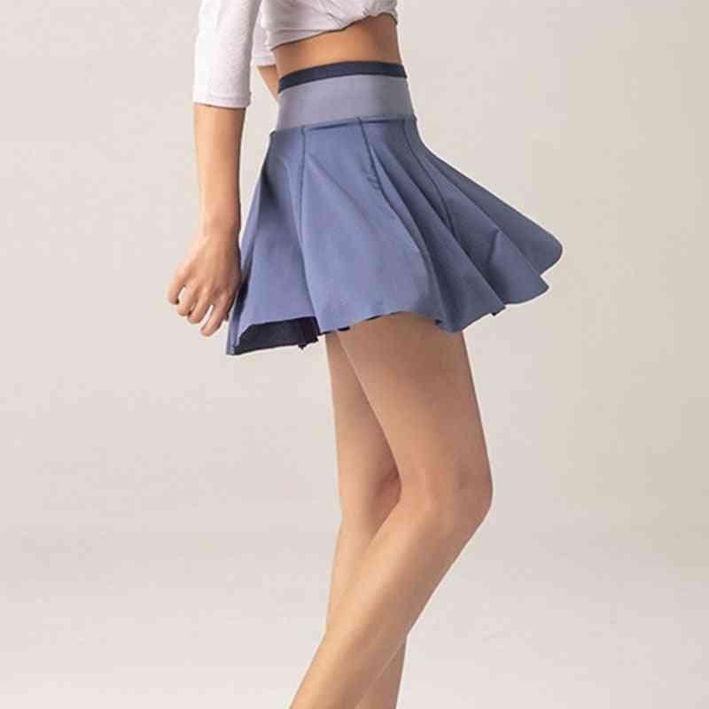 High Waist Athletic Sport Skirt With Pocket