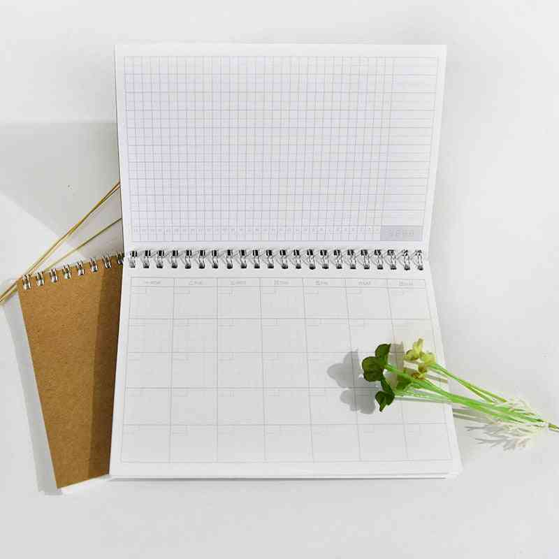 1pcs/lot A5 Monthly Planner Spiral Pad