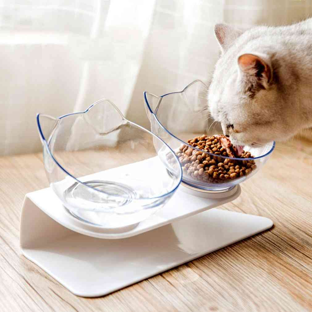 Cat Head Shape Double Bowl With Protection Cervical