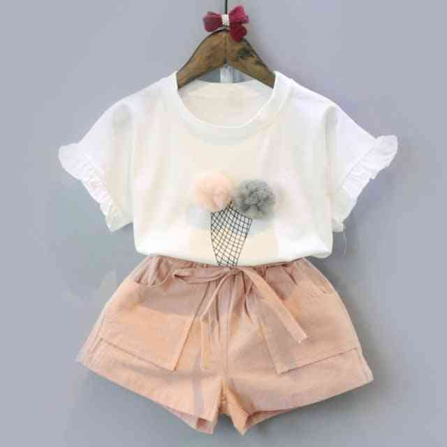 Two Piece Sleeveless Cotton Colth Sets For Kids