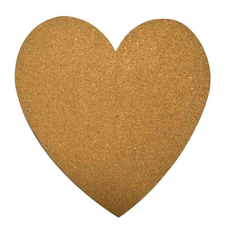 Big Heart Shape Cork Wood Bulletin Board