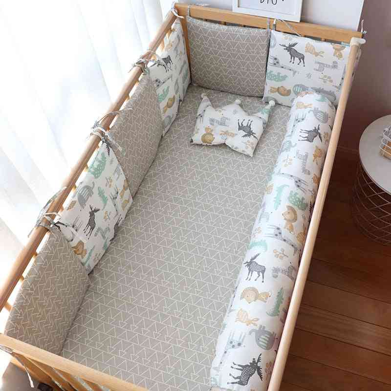 Baby Bed Bumper For Newborns, Decoration Thick Soft Crib Protector