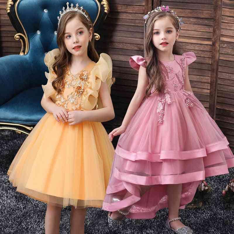 Kids Girl Cake Tutu Flower Party Wedding-dress