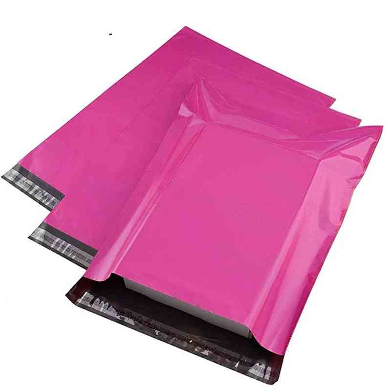 Pink Poly Mailer, Self Adhesive Post Package, Glue Seal Postal Bag, Courier Storage