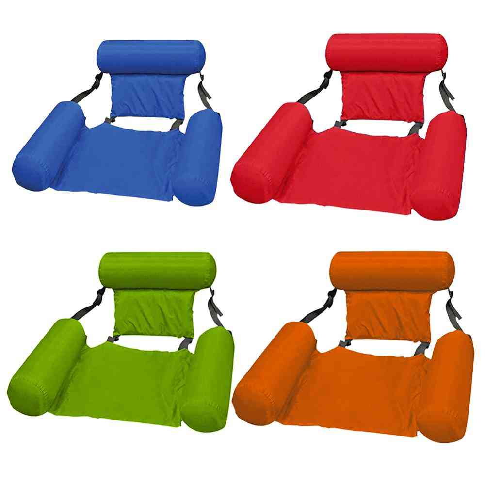 Summer Foldable Floating Row Swimming Pool Water Hammock Air Mattresses Lounger Chair
