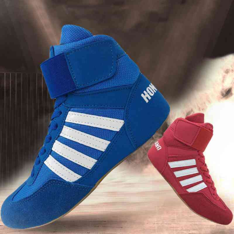 Boxing Rubber Outsole Breathable Wrestling Shoes & Women
