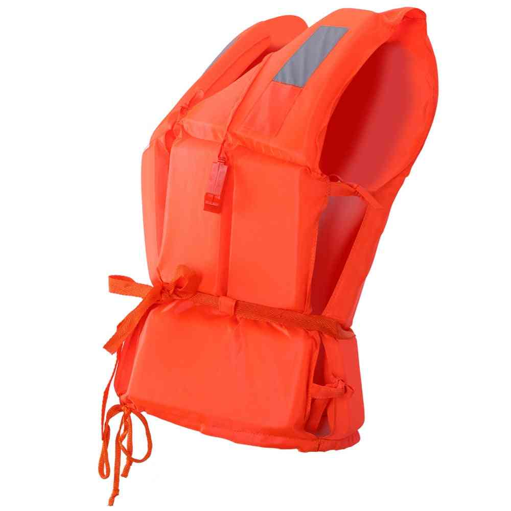 Universal Adult Life Vest Jacket With Whistle
