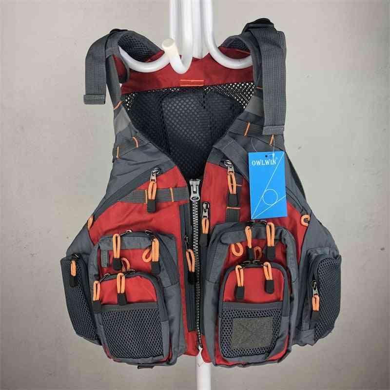 Life Vest Fishing Outdoor Sport Flying  Men Respiratory Jacket Safety Survival Utility Vest
