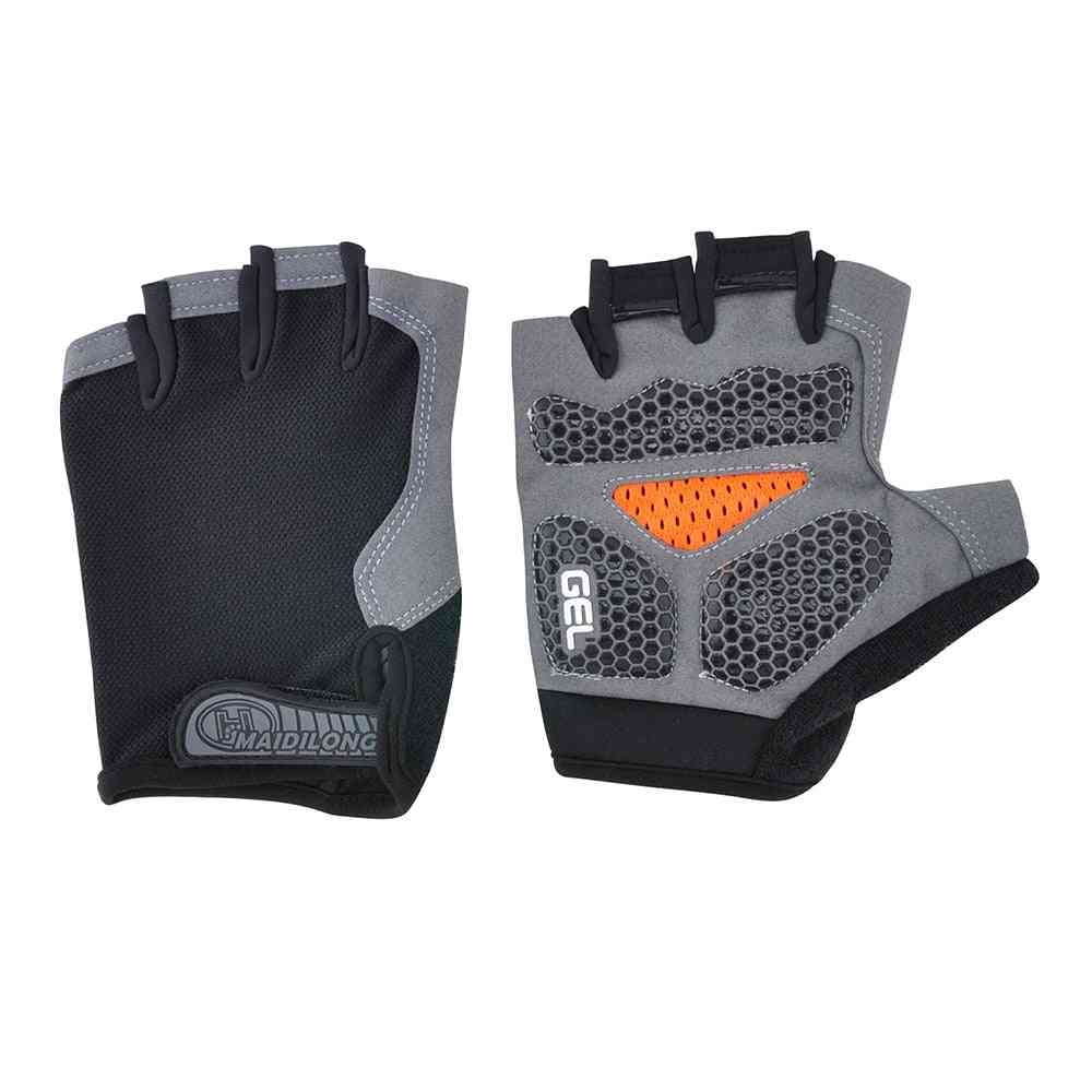Silicone Cycling Anti-slip, Men- Women Half Finger Gloves
