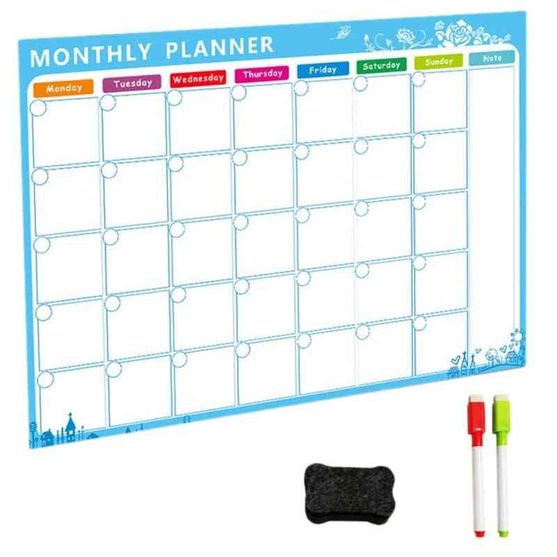 Flexible Whiteboard Fridge Magnets-monthly/daily Planner