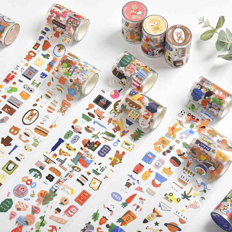 Cute Cartoon-tape, Scrapbooking Label Stickers Pvc Masking Tape