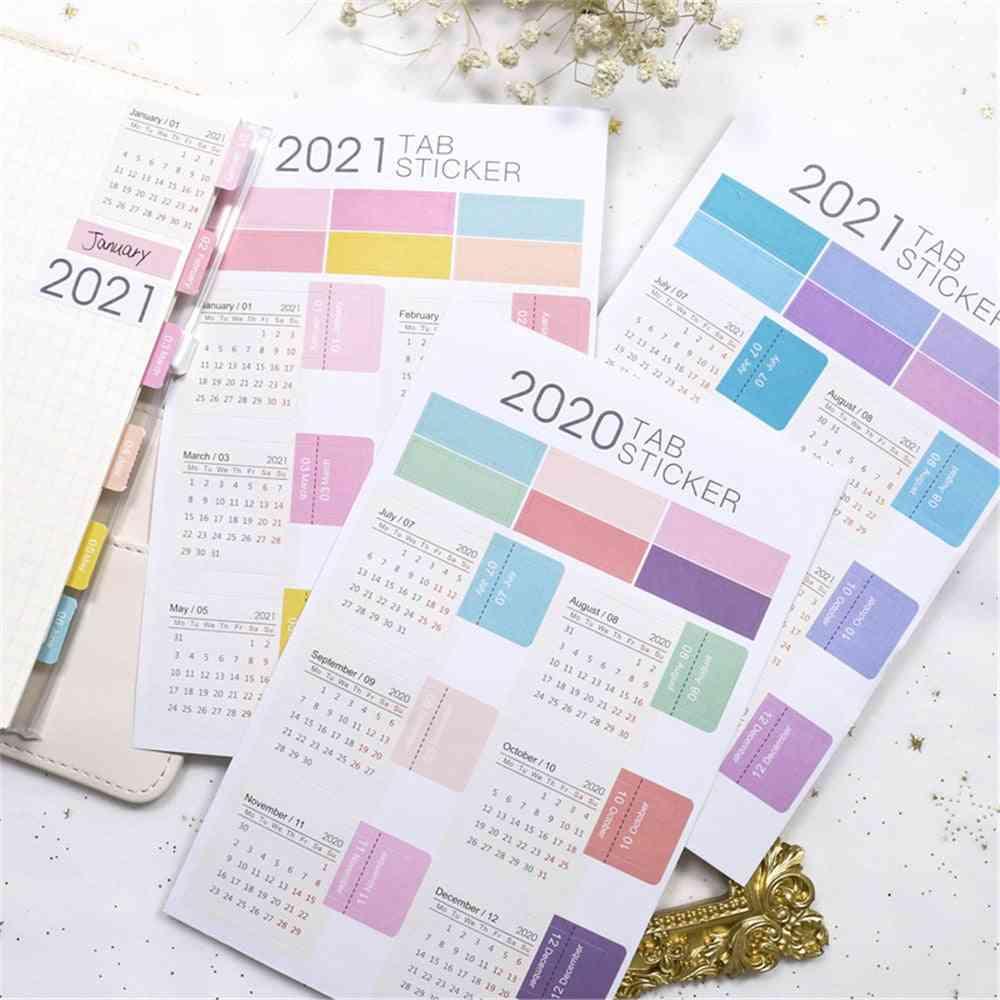 Calendar Kawaii Stationery Planner Agenda Stickers