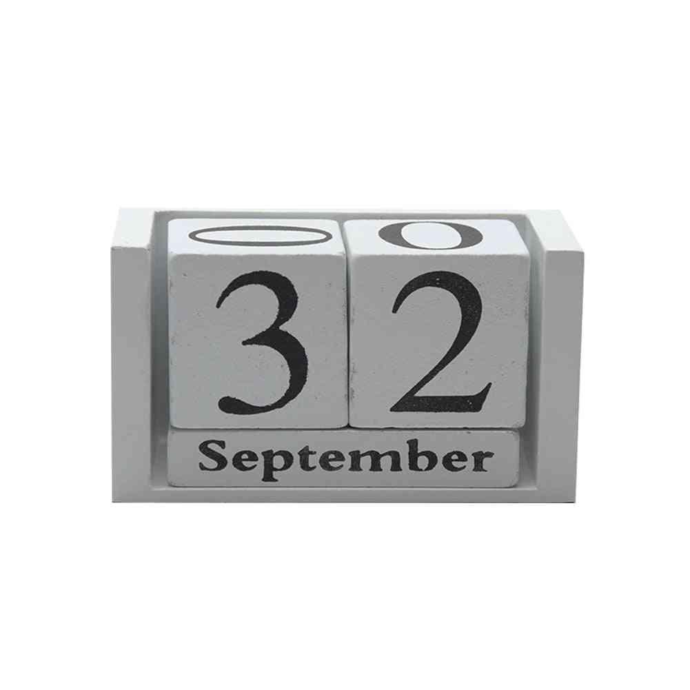 Reusable Wood Calendar, Planner Month & Date Display-wood Block