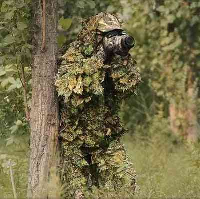 Hunting Ghillie Suit 3d Camo Bionic Leaf Jungle Woodland Outfit Clothing