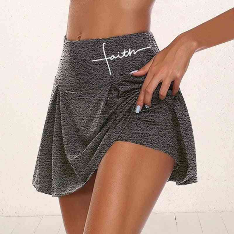 Women Athletic Tennis Sport Skirts With Shorts