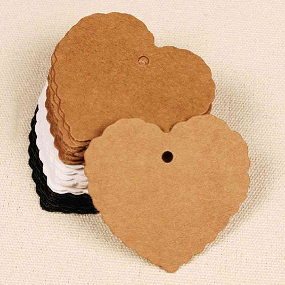 Heart Shape Kraft Paper Hang Tags Wedding Party Favor Label Price
