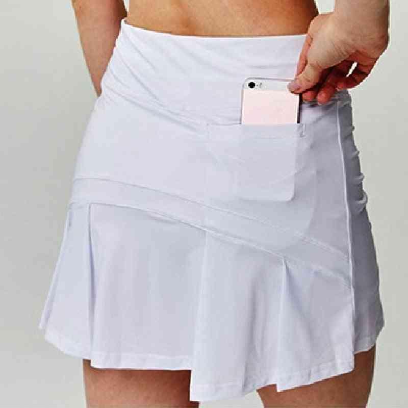Women Tennis Skirts Badminton Golf Pleated High Waist Fitness Short